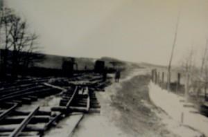 Bau der Landstrasse Richtung Hagen an den Weischedehöfen